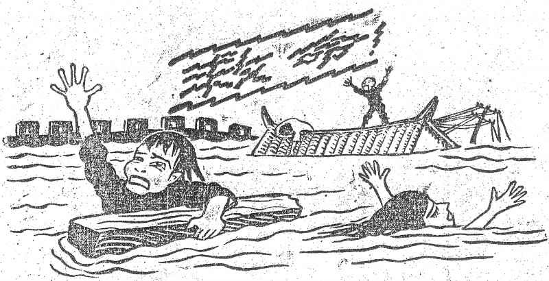 Chinese flood relief cartoon 1931