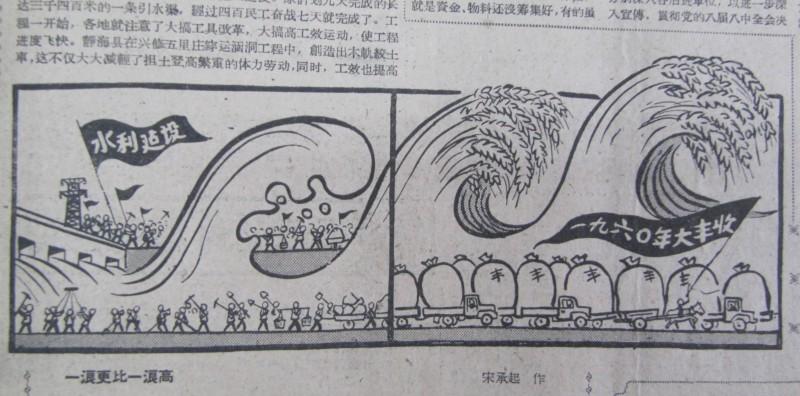 Grain propaganda Tianjin Ribao 1960