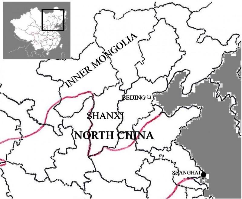 Shanxi Map, 1892