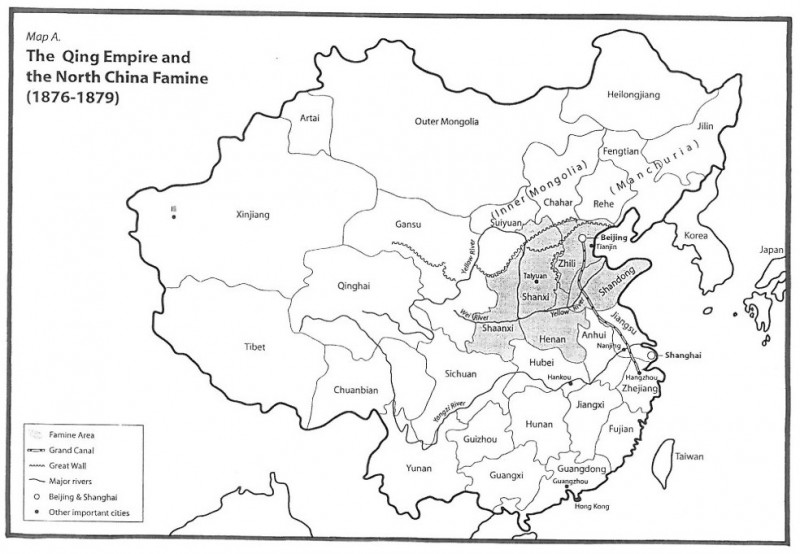 Qing 1876-79 famine map