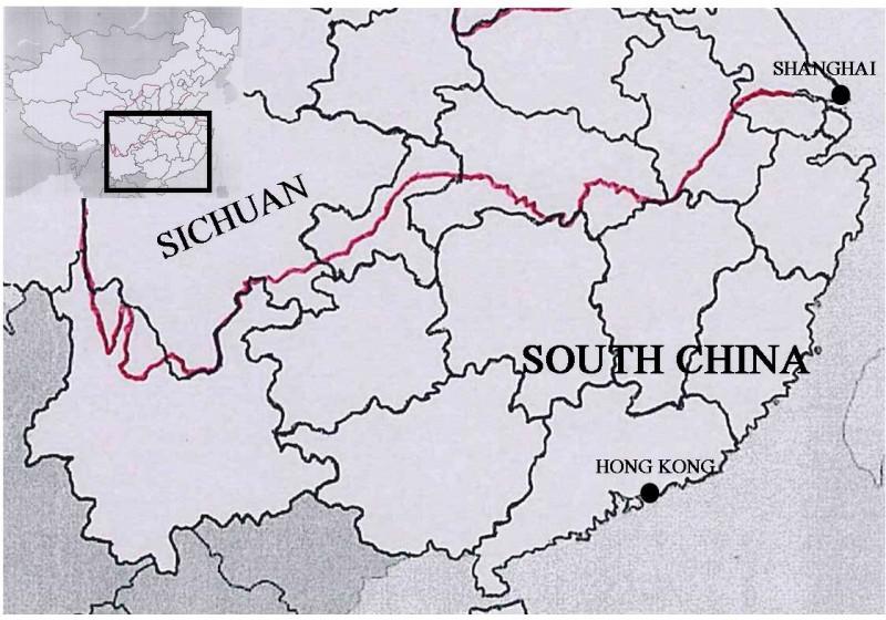 Sichuan Map, 1936